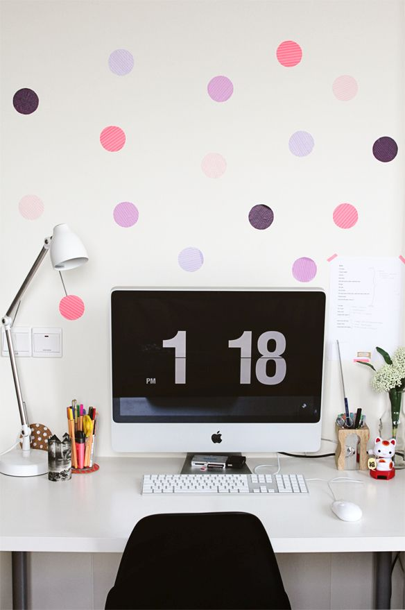 DIY washi tape dots