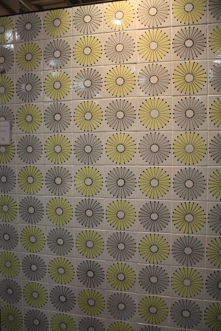The lowly Dandelion is elevated to a fantastic tile design.