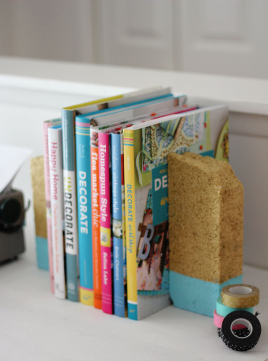 Dipped brick bookends