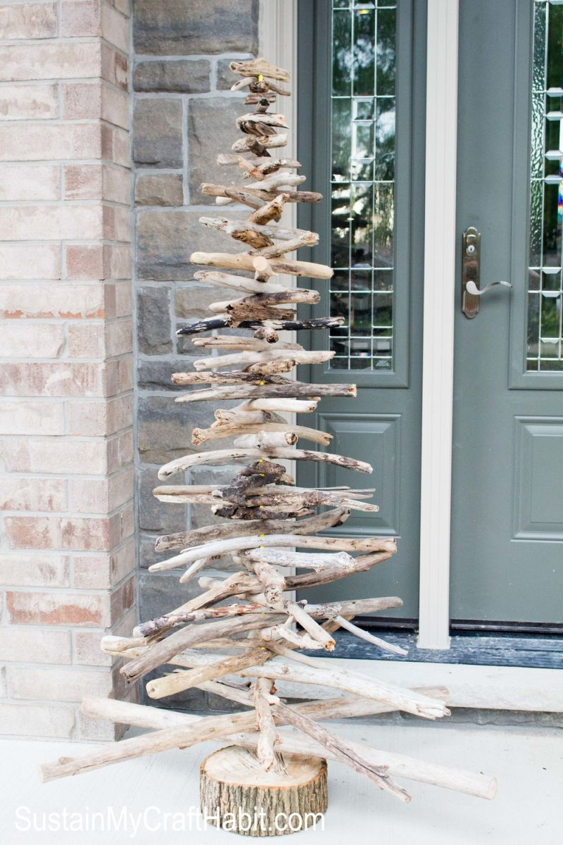 Driftwood Christmas Tree for Porch