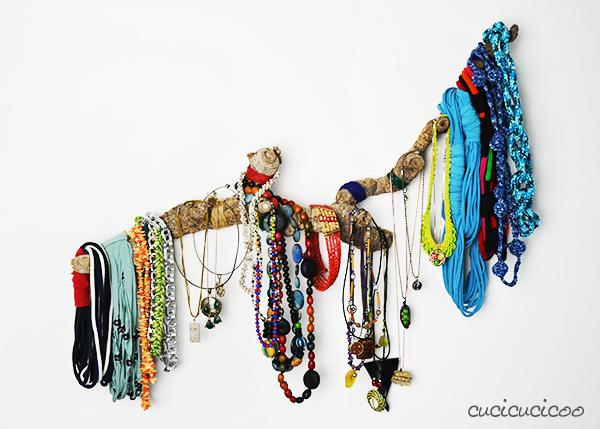 漂流木项链衣架
