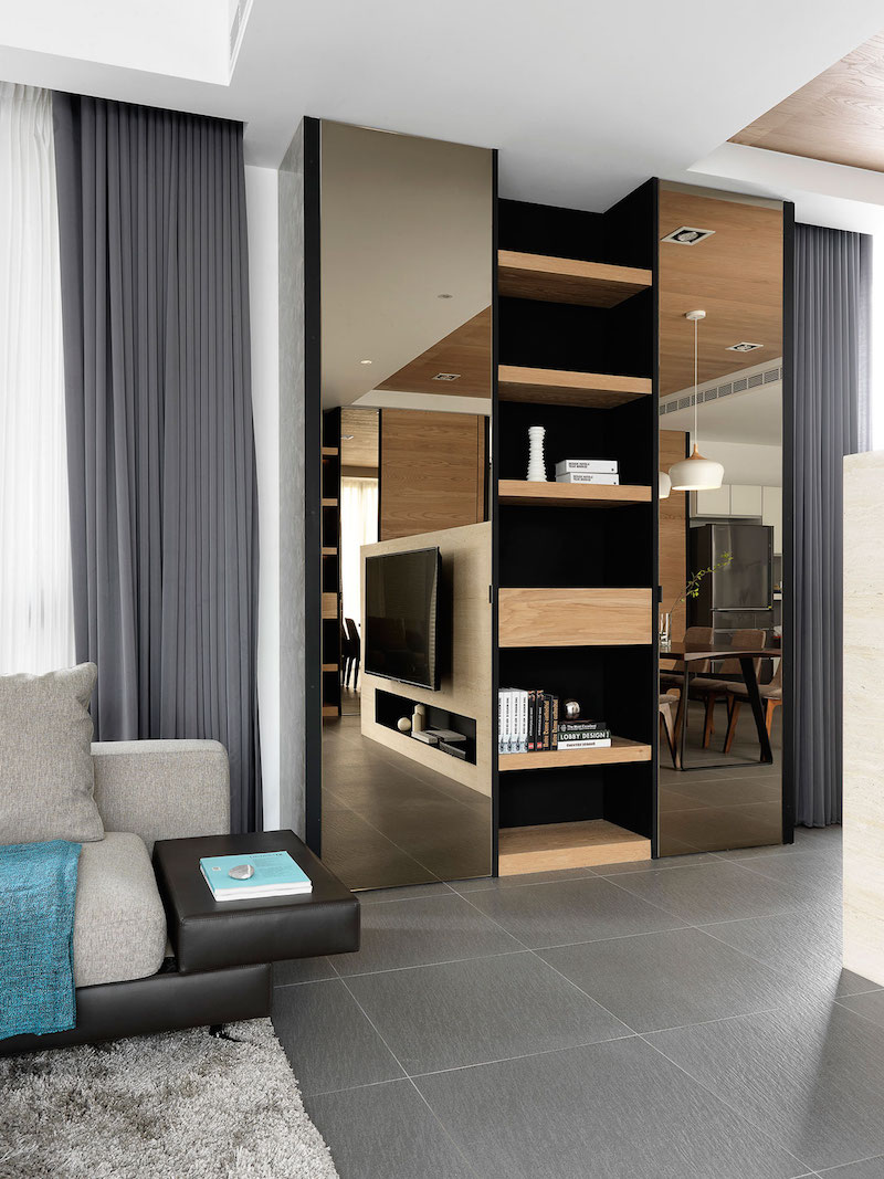 Four Season House living room wall unit