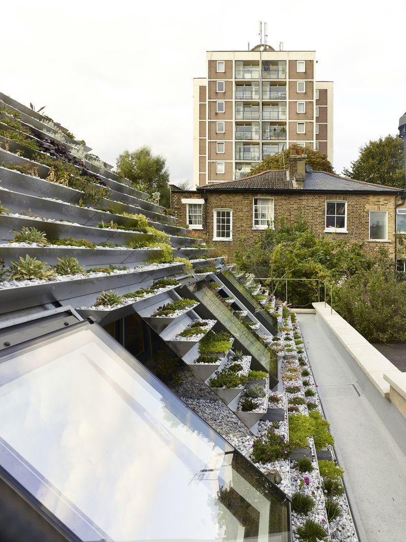 Garden House angled roof