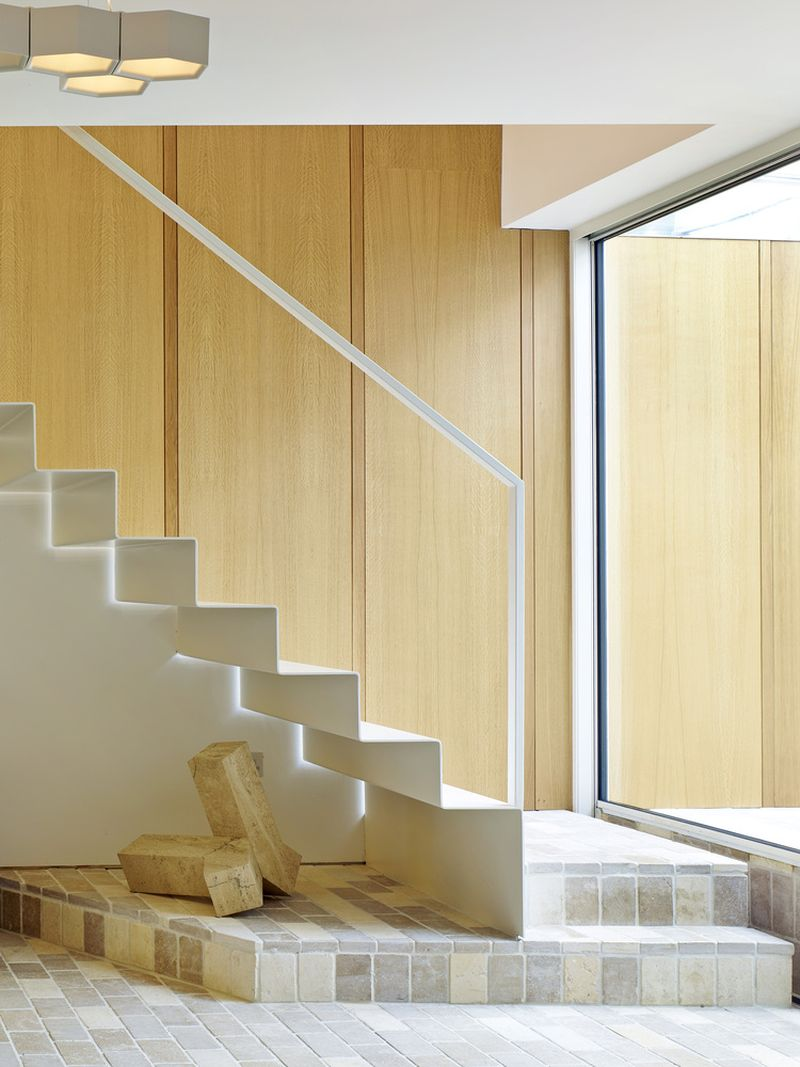 Garden House interior stairs