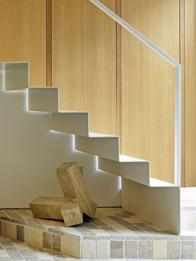 Garden House stairs sculptural design