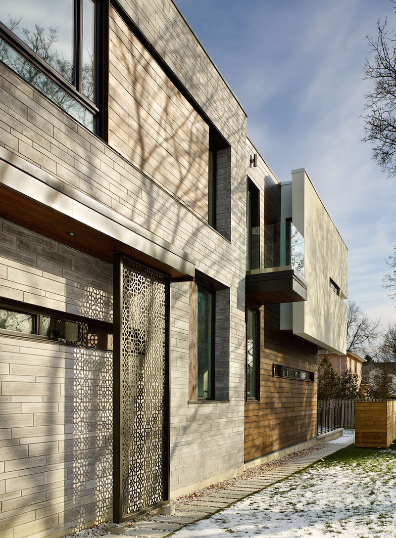 Garden Void House exterior walls