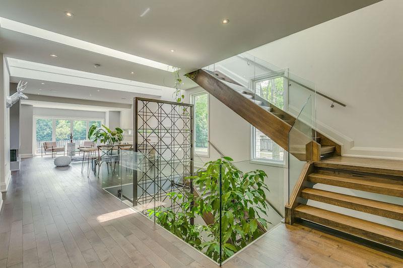 Garden Void House staircase and garden
