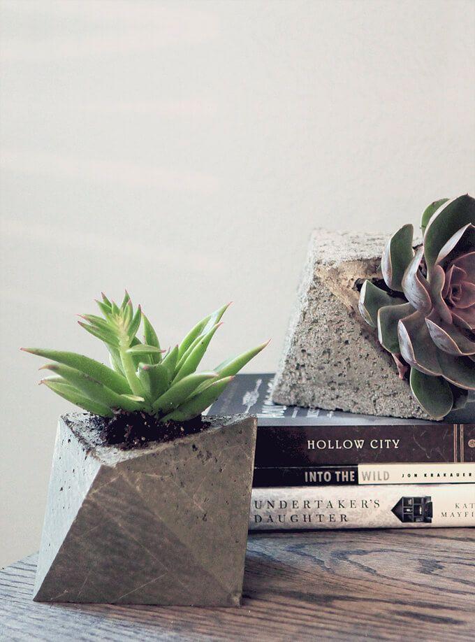 Geometric concrete plantes