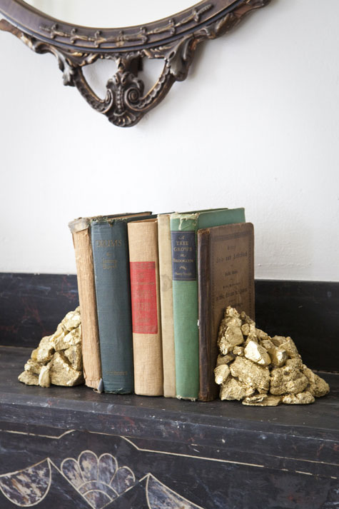 Gold sprayed bookend