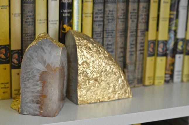 Golden leaf bookends