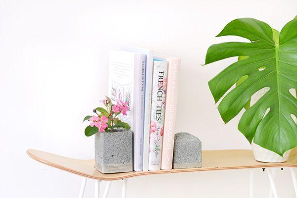 Granite bookends DIY