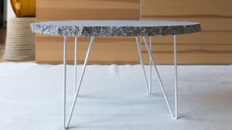 Granite hairpin legs table