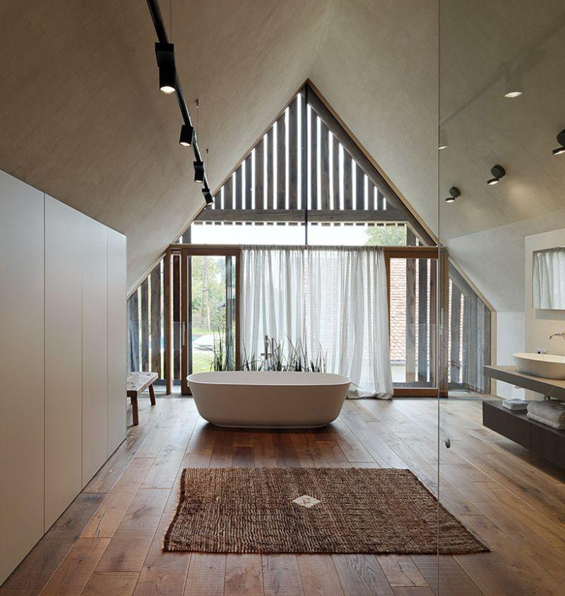 Haus P barn renovation upper floor tub