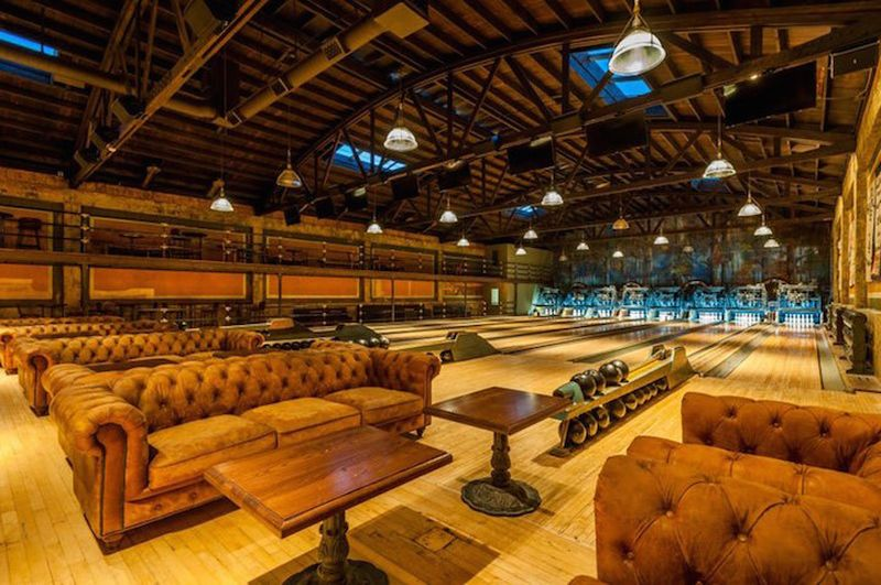 Highland Park Bowling Alley lounge