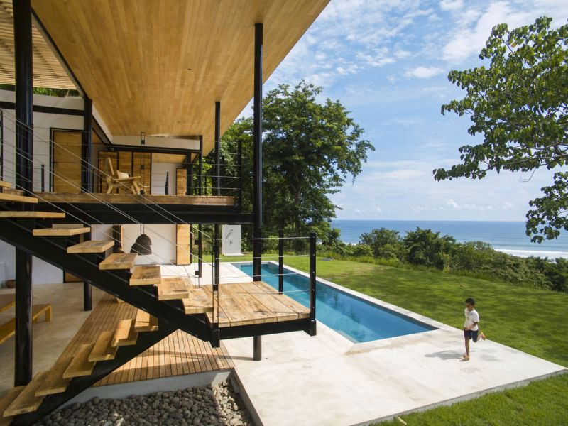 House between the ocean and the jungle staircase