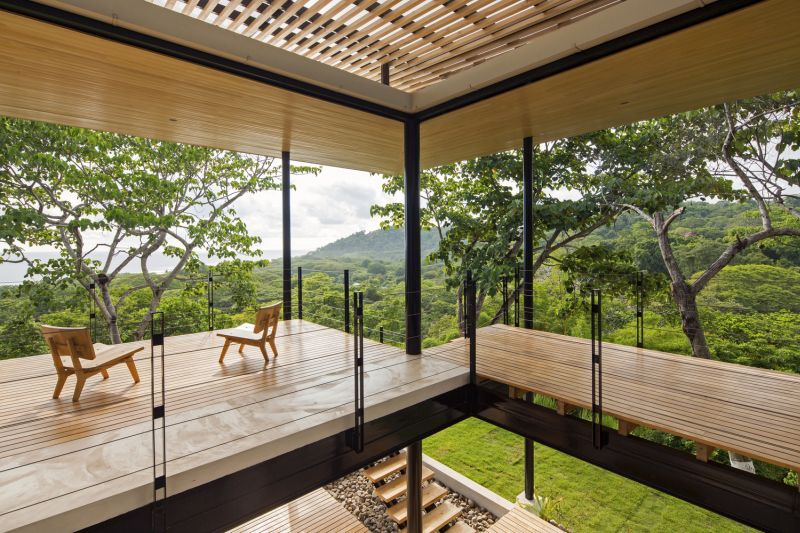 House between the ocean and the jungle terraces