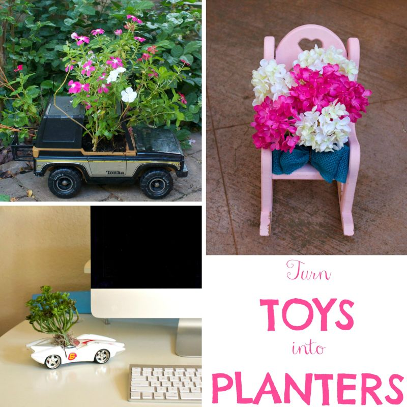 How to turn toys into planters