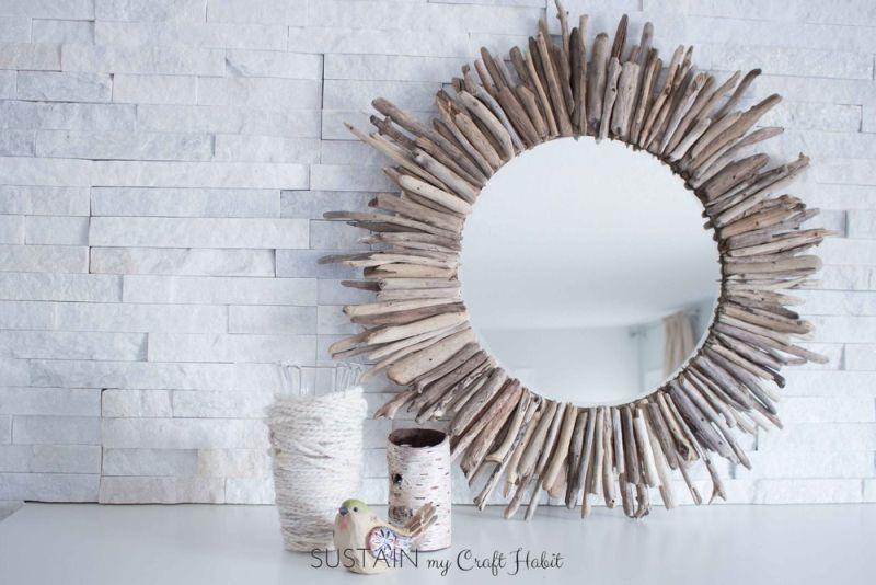 令人印象深刻的浮木镜子