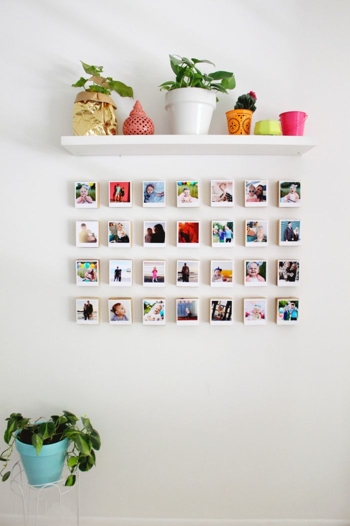 Instagram pictures wall decor