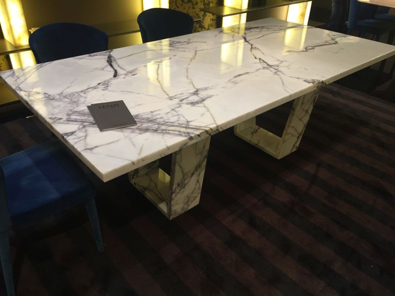 Charmant ... Lenzi Carrera Marble Dining Table
