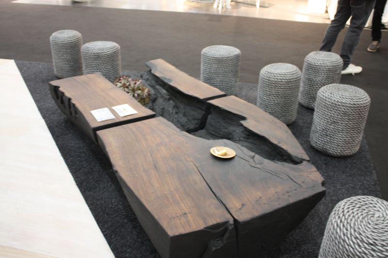 Live edg coffee table for a natural look