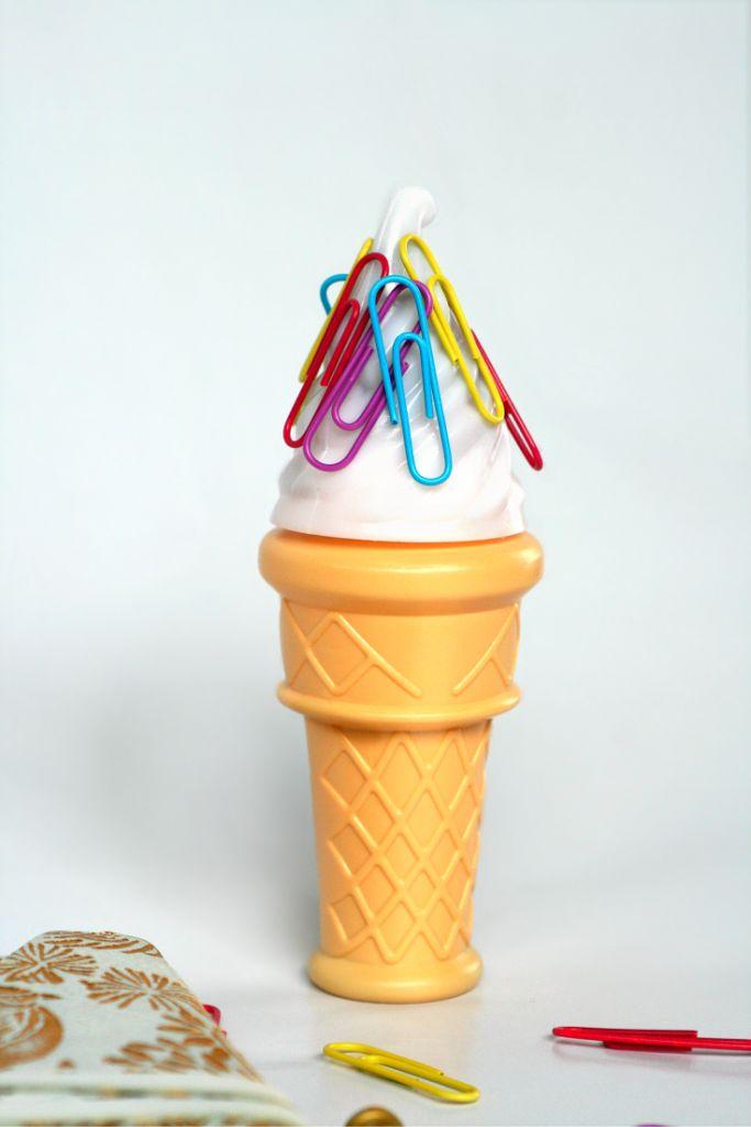 Magnetic ice cream cone