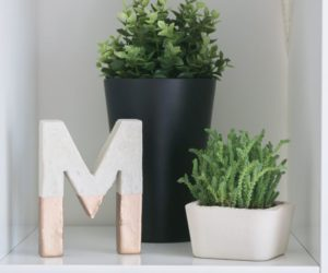 Make Painted Concrete Letters