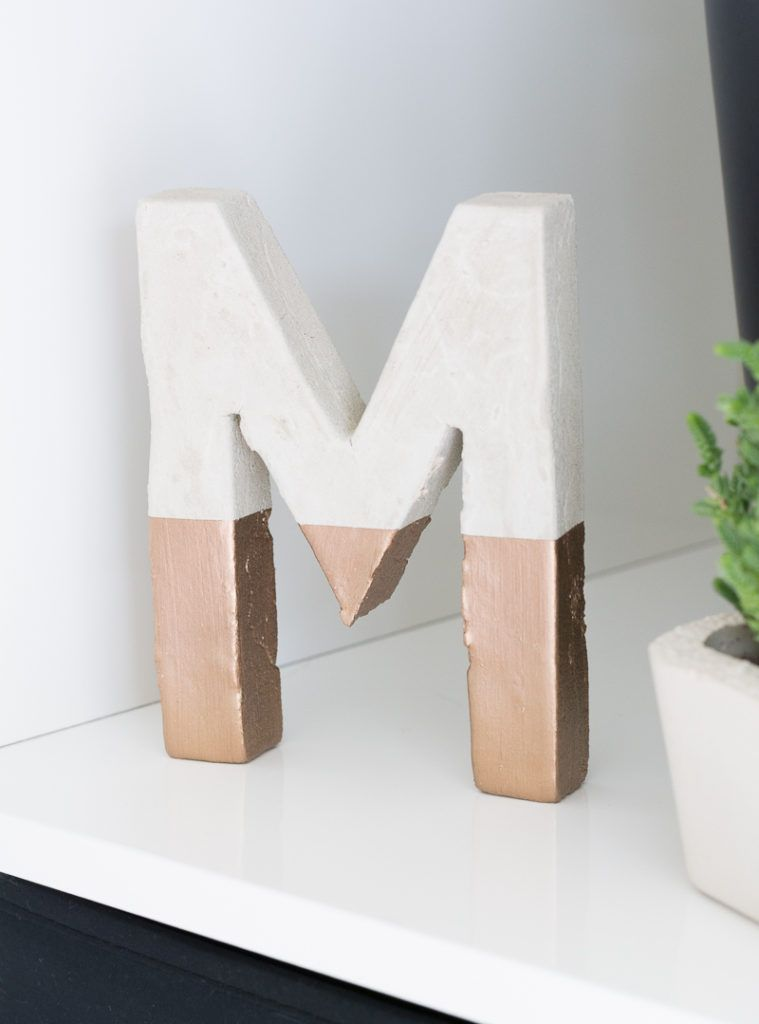 Make Painted Concrete Letters Craft