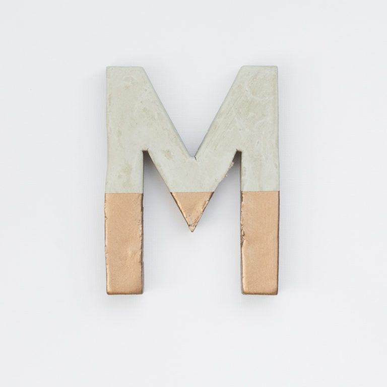 Make Painted Concrete Letters - painted letter