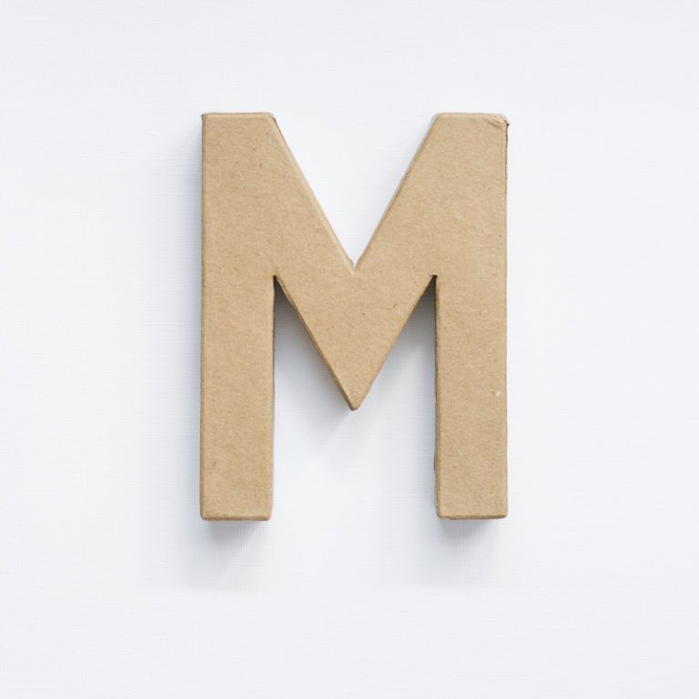 Make Painted Concrete Letters - paper mache letter