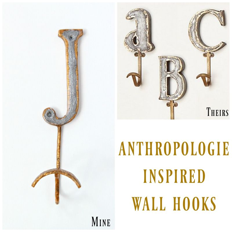 make a faux metal wall hook collage