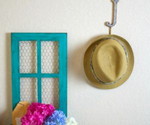Anthropologie Hack: Make a Faux Metal Wall Hook