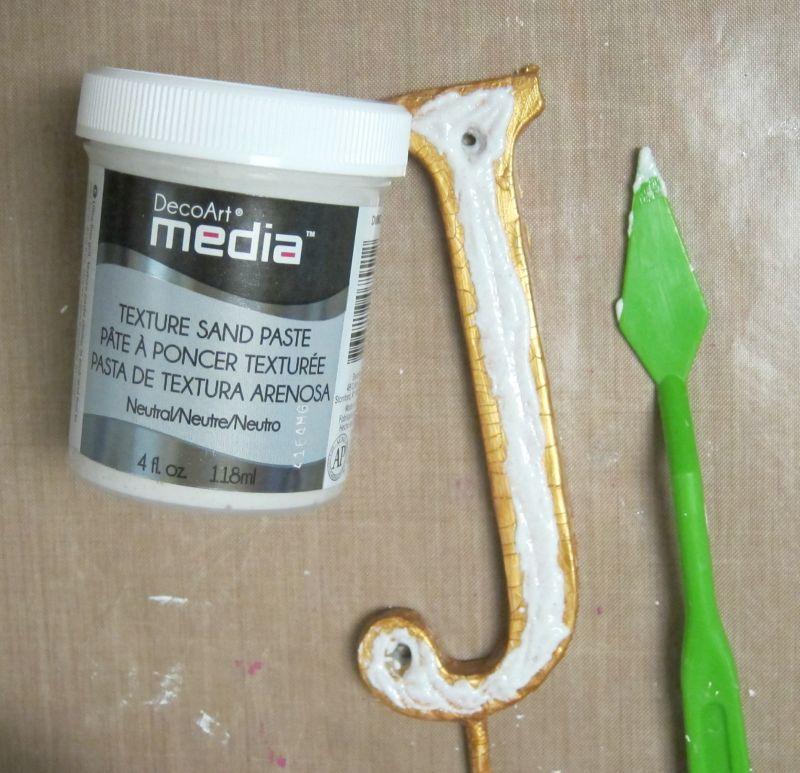 Make a Faux Metal Wall Hook Texture