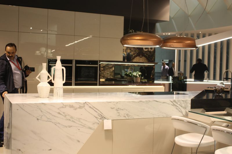 Marble on the kitchen island