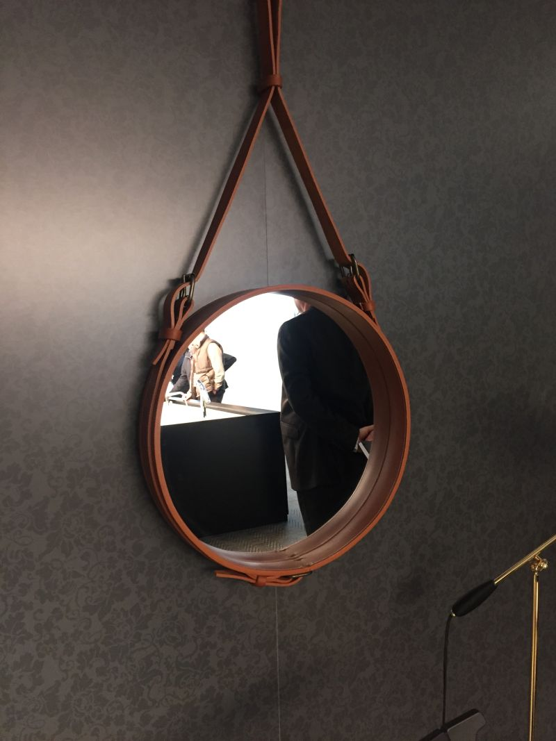 Materials- leather strap to hold the mirror