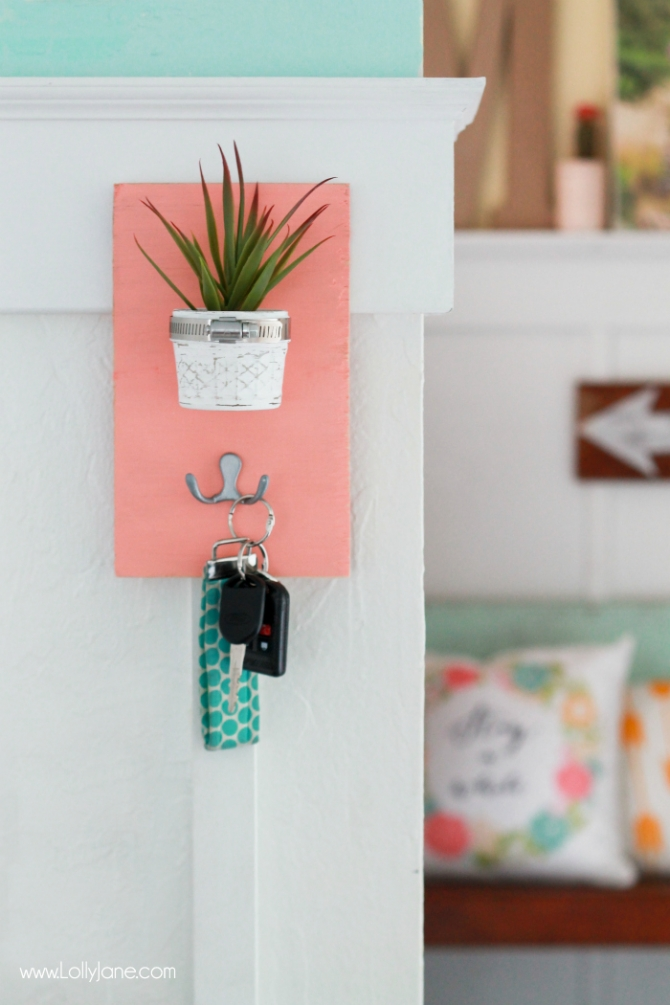 Mini planter key holder