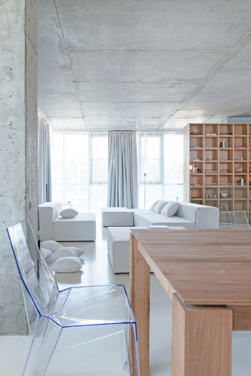 Minimalist Moscow apartment acrylic chair