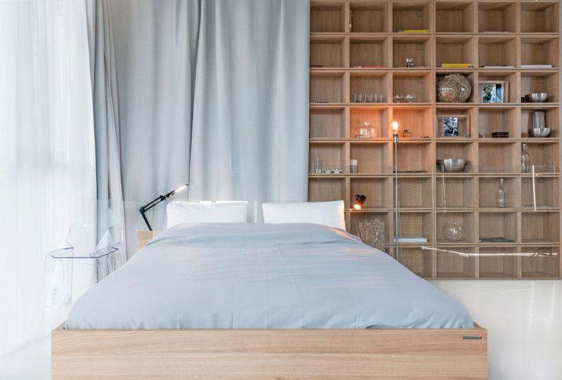 Minimalist Moscow apartment bedroom decor