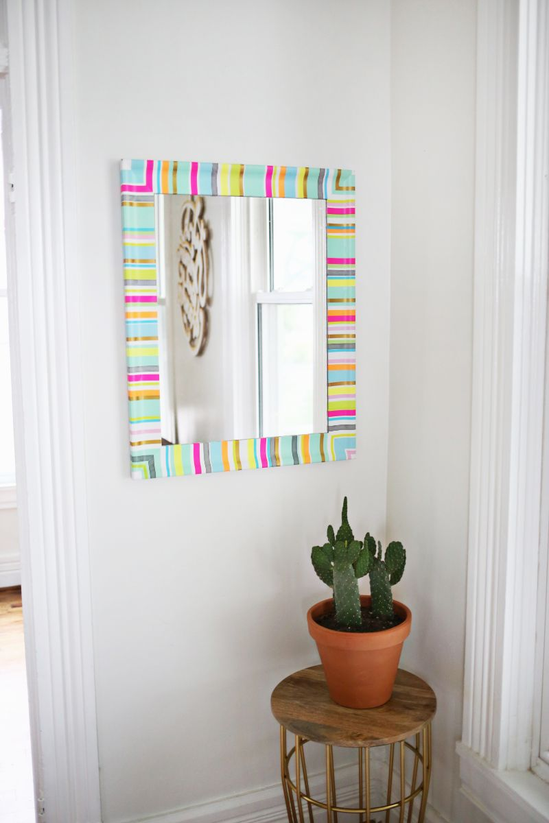 Mirror frame washi tape