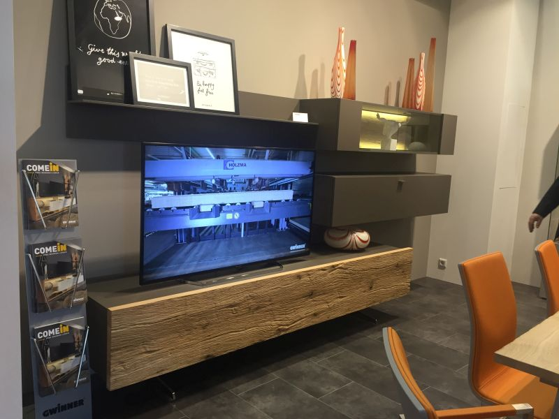 Modern MDF With Reclaimed Wood To Create A TV Stand