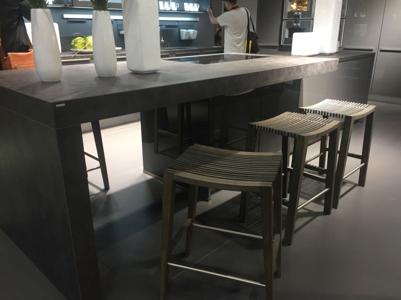 Modern kitchen island - counter height stools from wood