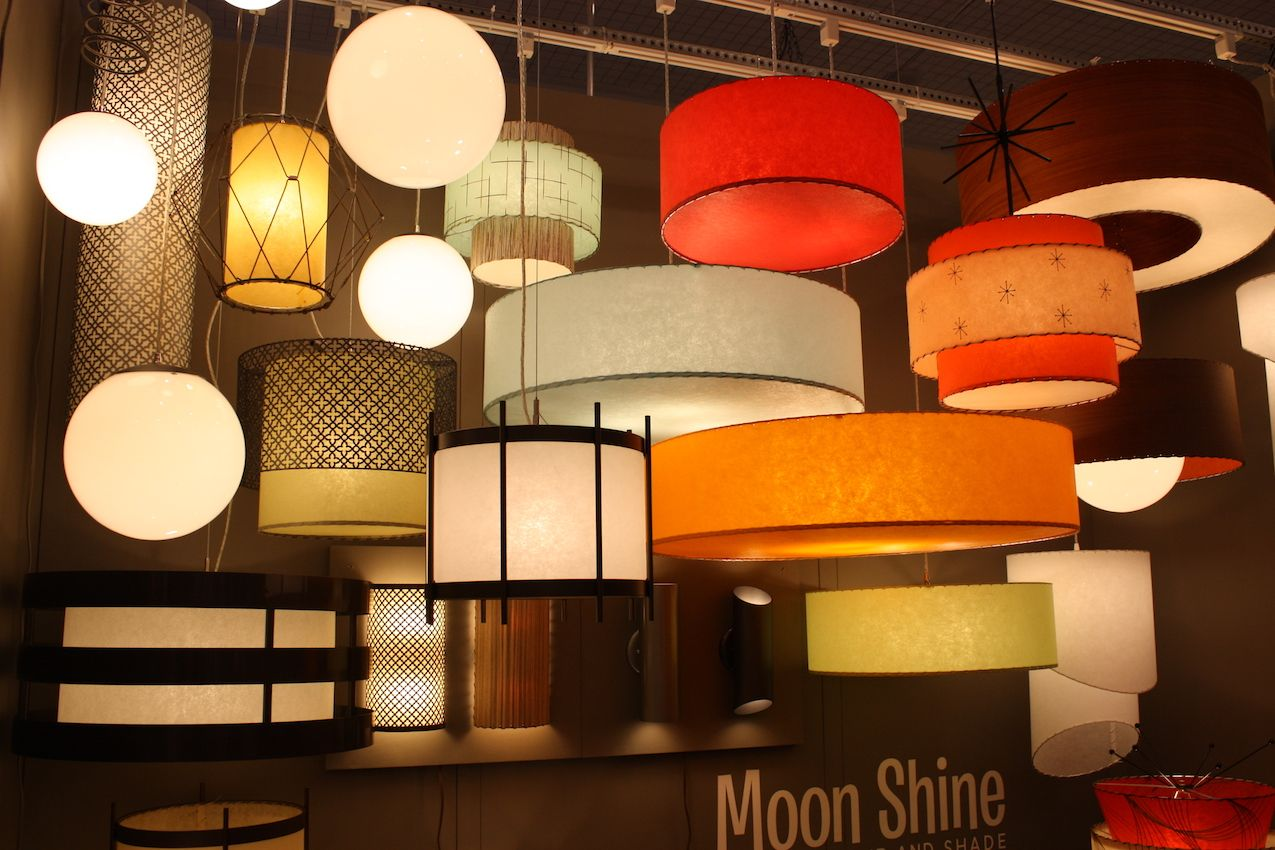 Moonshine lamp shades retro atomic lampshades from moon shine lamp moonshine lamp shades light fixtures can add drama and a stylish pop of color aloadofball Gallery