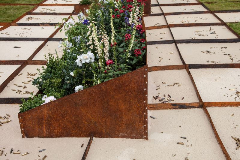 Natural patina of planters