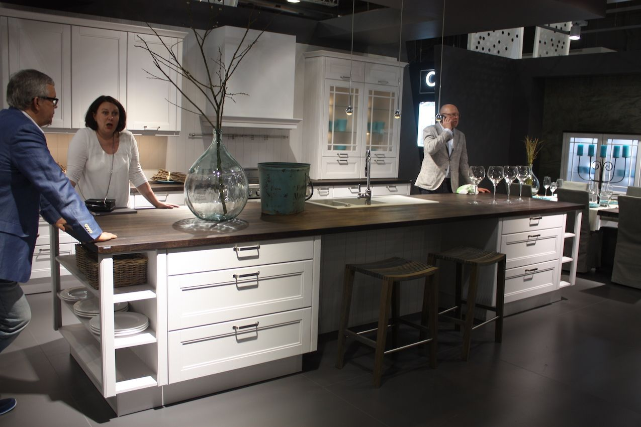 Nobilia white kitchen island
