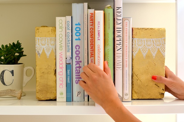 Old bricks turned into bookends