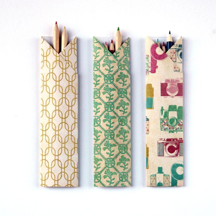 Origami chopstick pencil case
