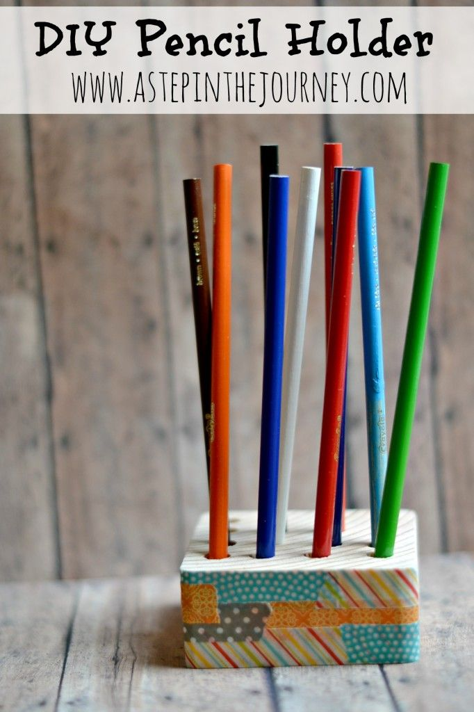 Pencil holder washi tape