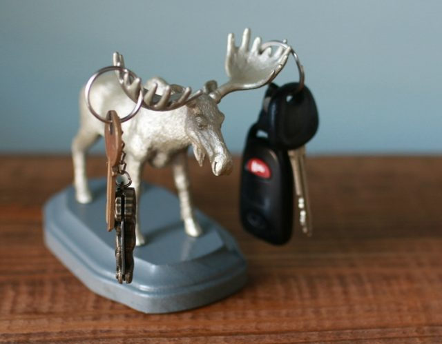 Plastic animal key holder