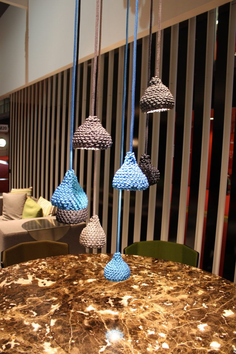 Potocco crocheted lamps