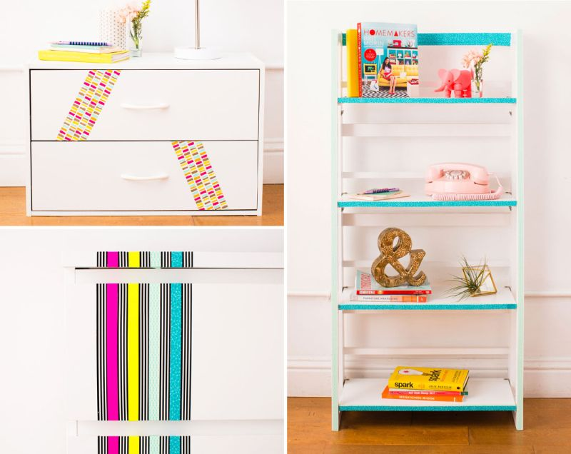 Revamp furniture with washi tape